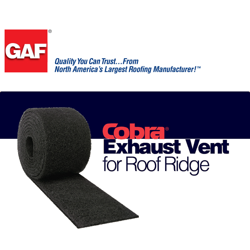 Cobra 174 Exhaust Vent For Roof Ridge Gaf Roofing
